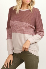 hummingbird Mauve Block Pullover - Product Mini Image