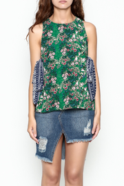 hummingbird Mix Print Top - Front cropped