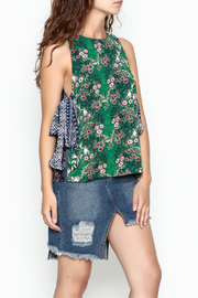 hummingbird Mix Print Top - Side cropped