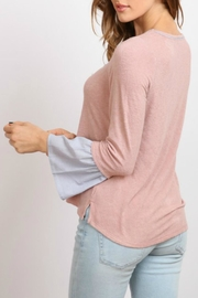 hummingbird Pink Ruffle Sleeve Top - Other
