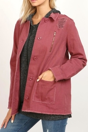 hummingbird Wine Twill Jacket - Front cropped