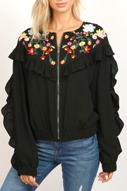 hummingbird Zip Ruffle Jacket - Front full body