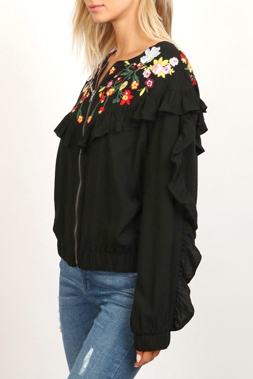 hummingbird Zip Ruffle Jacket - Main Image