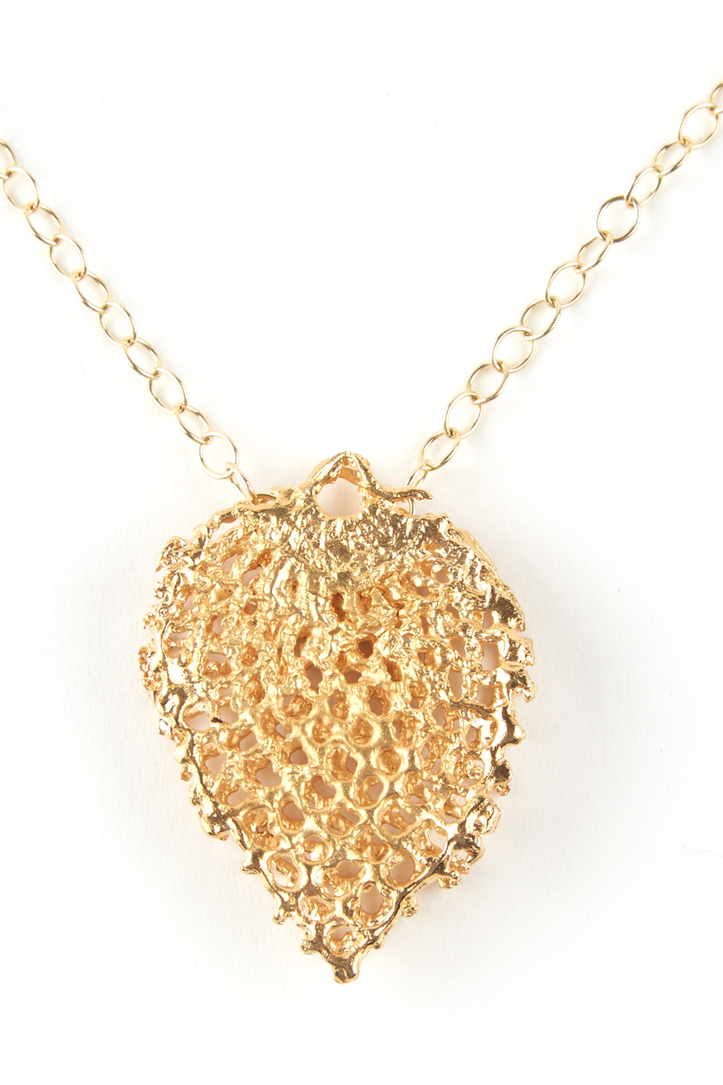 Jessica Ricci Jewelry Hungarian Lace Pendant Necklace - Front Full Image