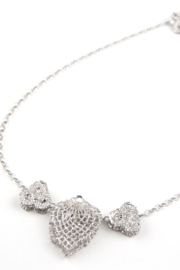 Jessica Ricci Jewelry Hungarian Lace Pendant Necklace - Front full body