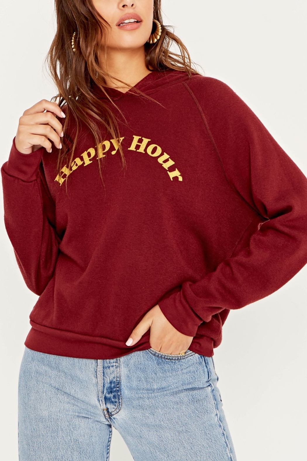 Project Social T Hungover/Happy Hour Reversible Hoodie - Main Image