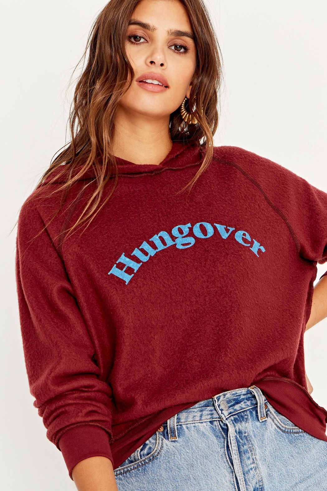 Project Social T Hungover/Happy Hour Reversible Hoodie - Front Full Image