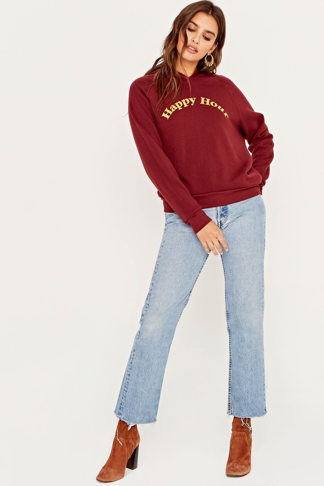 Project Social T Hungover/Happy Hour Reversible Hoodie - Back Cropped Image