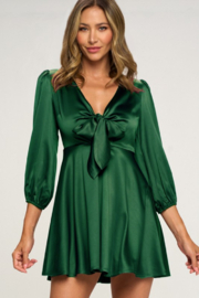 Lovely Day Hunter Babydoll Dress - Front cropped