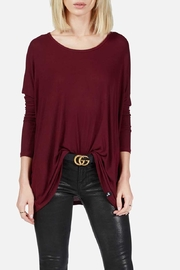 Michael Lauren Hunter Draped Tee - Front cropped