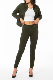 Lola Jeans Hunter Green Alexa Jean - Product Mini Image