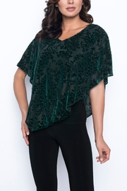 Frank Lyman Hunter Green Asymmetrical Top - Product Mini Image