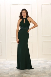 May Queen  Hunter Green Lace Long Dress - Product Mini Image
