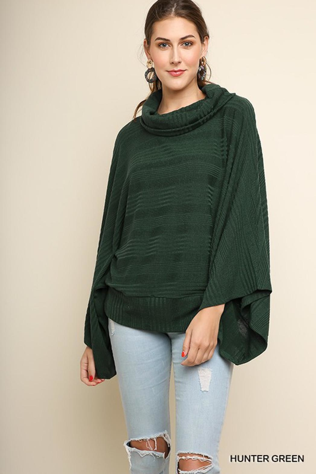 Umgee USA Hunter Green Sweater - Front Cropped Image