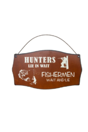 Rustic Ironwerks Hunters Lie and Wait Sign - Product Mini Image