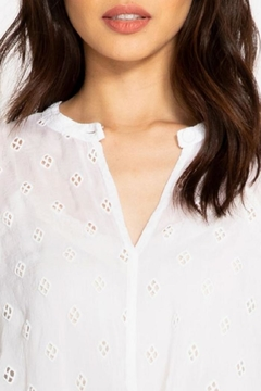 Johnny Was Hunter Tie-Front Blouse - Alternate List Image
