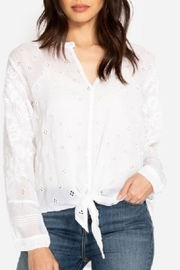 Johnny Was Hunter Tie-Front Blouse - Product Mini Image