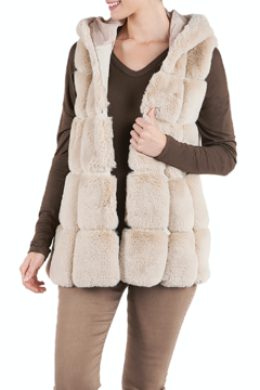 CoCo and Carmen  Hurley Hooded Vest - Alternate List Image