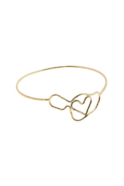 Hurricane Ltd. Maui Heart Gold-Bangle - Product Mini Image