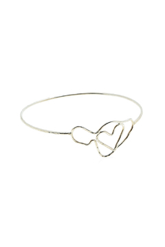 Shoptiques Product: Maui Heart Silver-Bangle