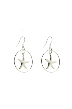 Shoptiques Product: Maui Silver Starfish Earrings