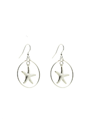 Hurricane Ltd. Maui Silver Starfish Earrings - Product Mini Image