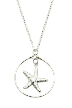 Shoptiques Product: Maui Silver Starfish Necklace