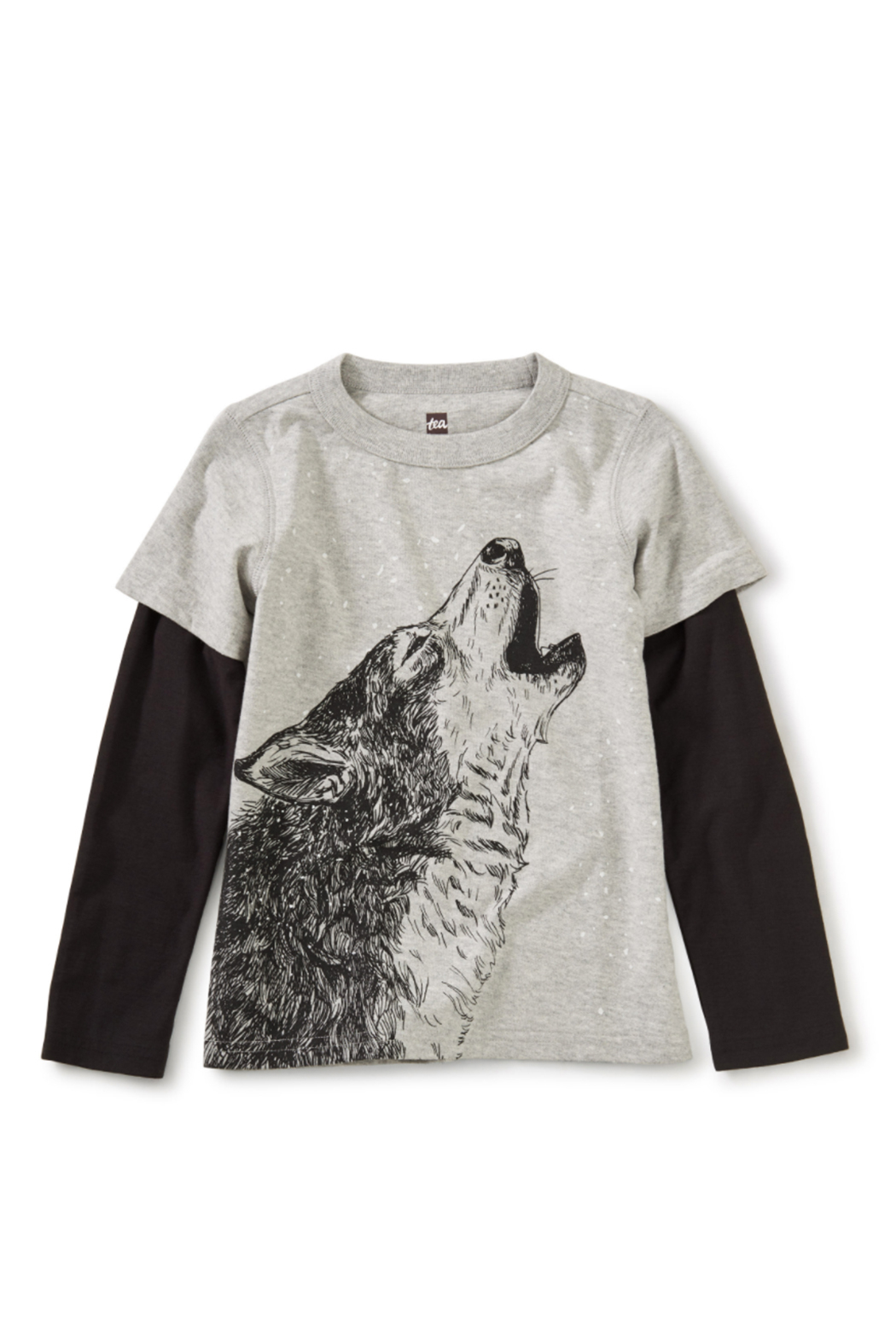 Tea Collection Husky Howl Layered Tee - Front Cropped Image