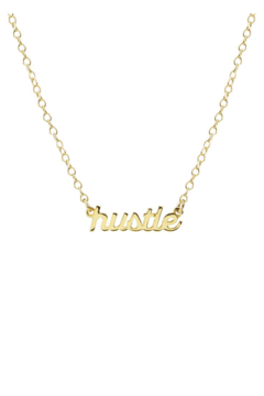 Shoptiques Product: Hustle Script Charm Necklace