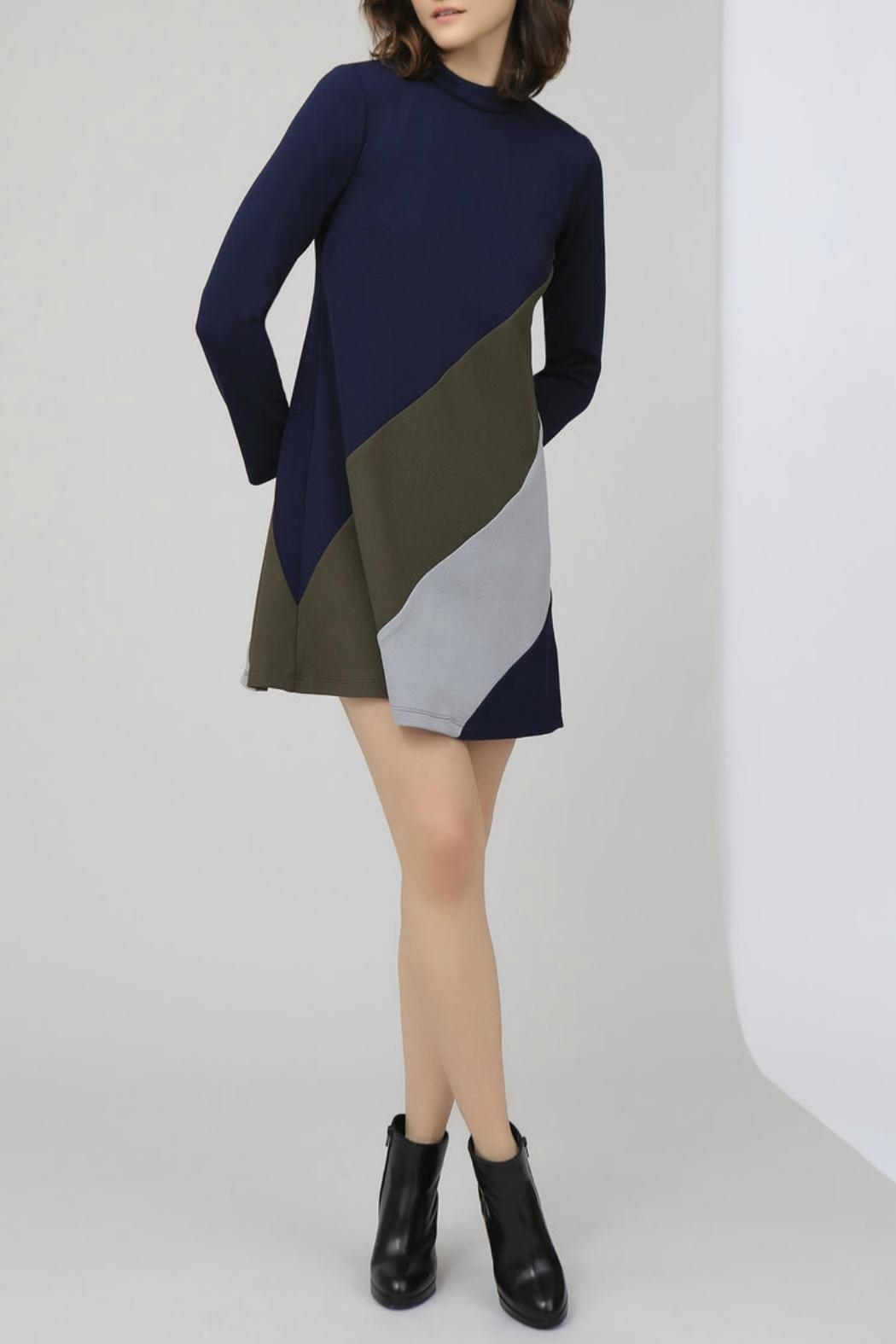 HUTCH Color Block Dress - Front Cropped Image