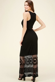 HWA Apparel Lace Bottom Maxi - Front cropped