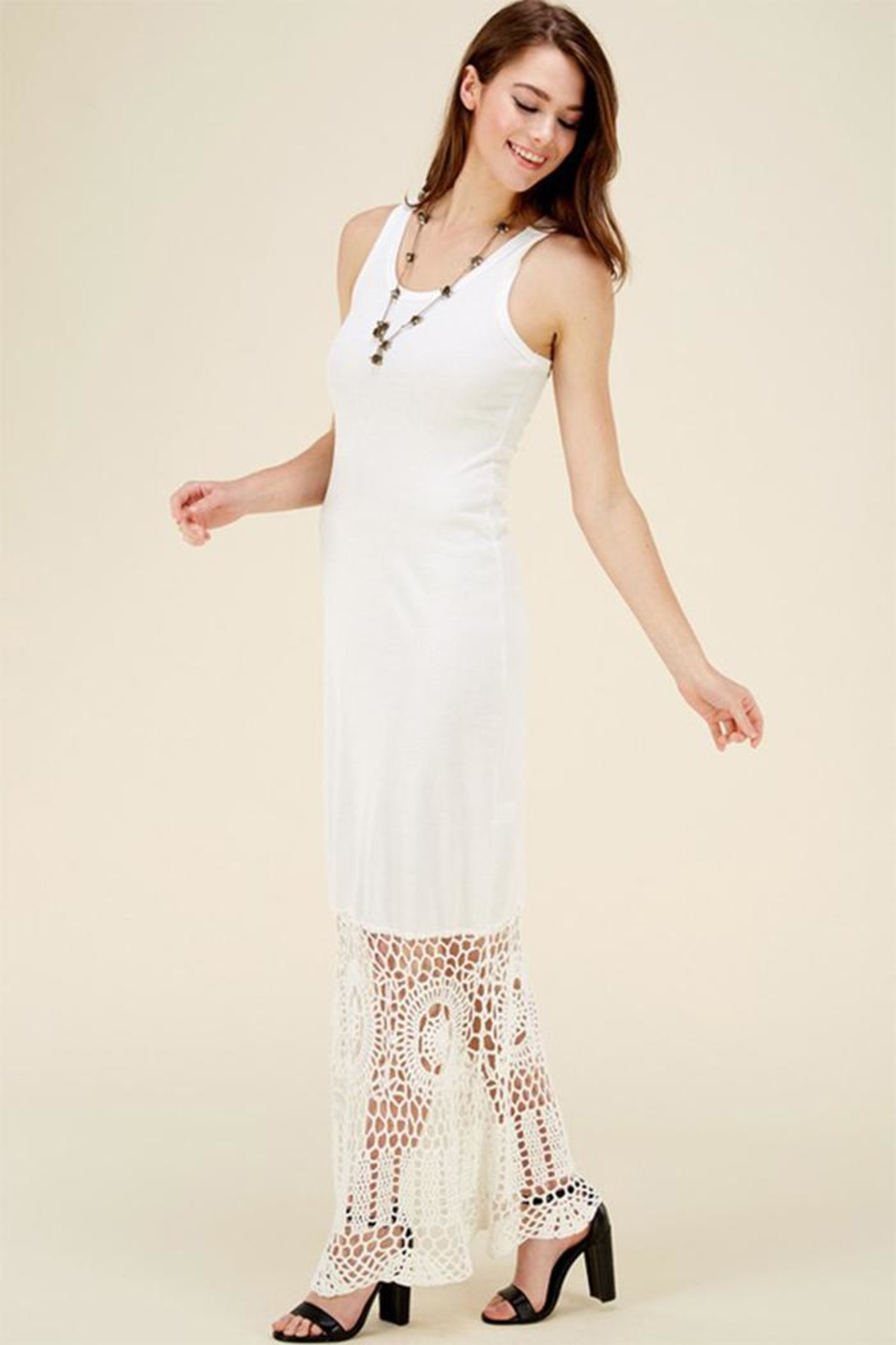 HWA Apparel Lace Bottom Maxi - Front Full Image