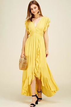 Shoptiques Product: Ruffle Trim Maxi