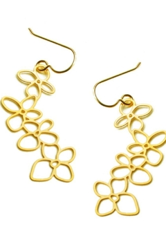 Daphne Olive Hydrangea Earrings - Product List Image