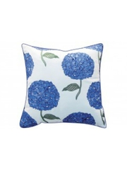 RIGHT SIDE DESIGN Hydrangea Pattern Indoor/Outdoor Pillow - Front cropped