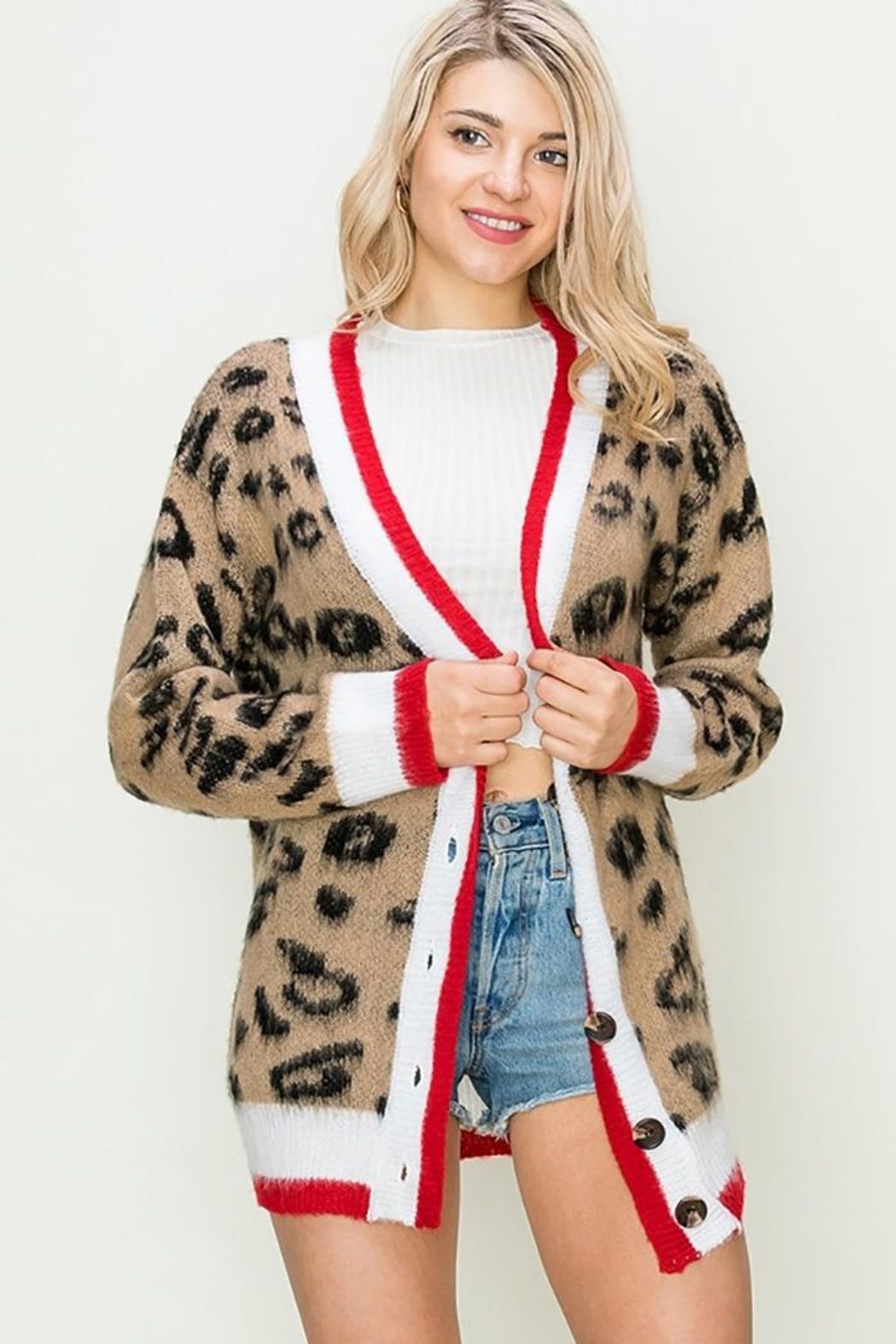 HYFVE Animal Print Cardigan - Main Image