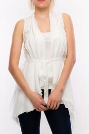 HYFVE Belted Crochet Vest - Product Mini Image
