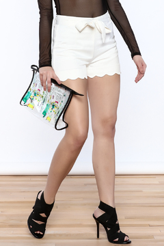 Shoptiques Product: Belted Scallop Shorts