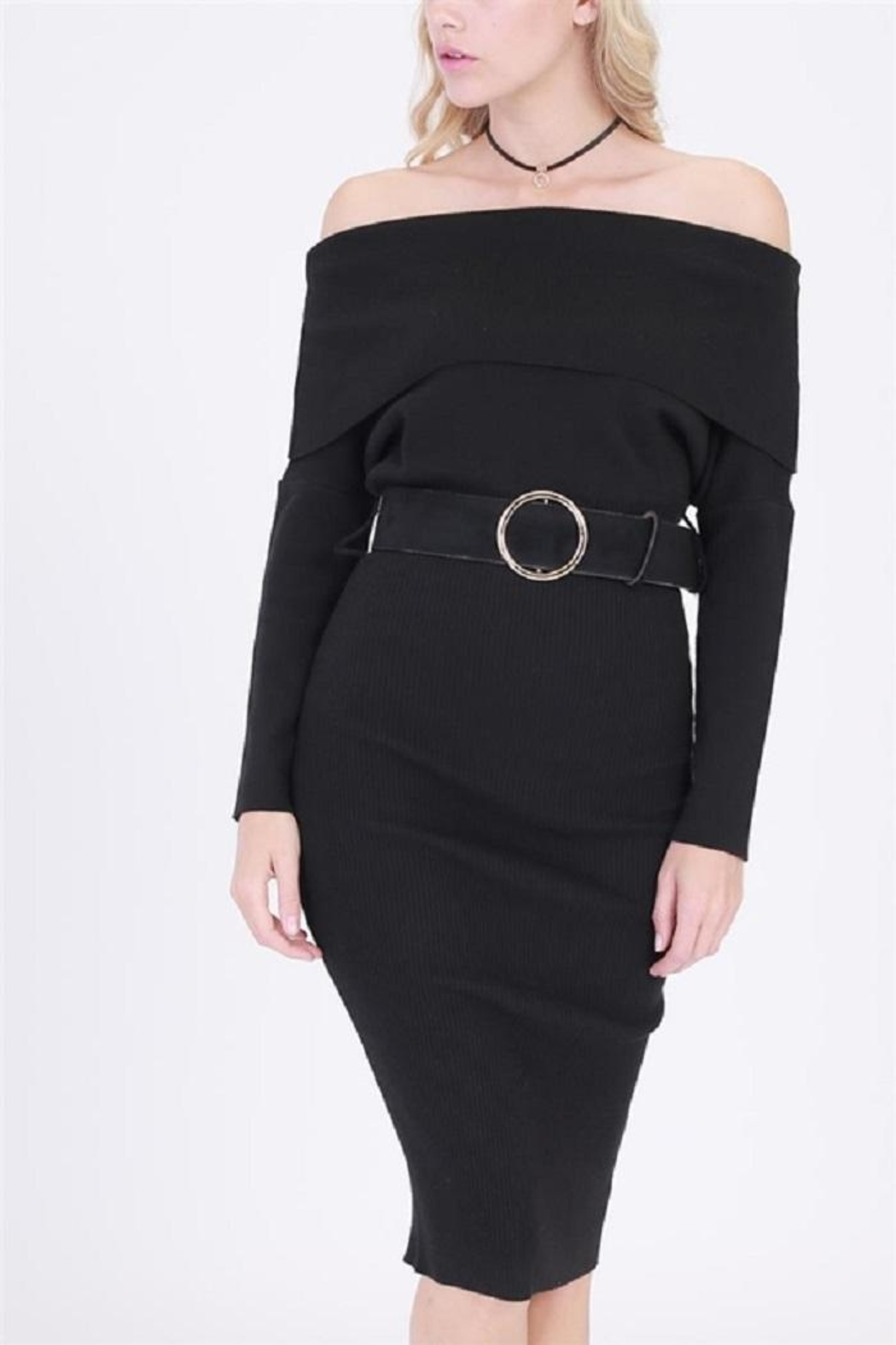 HYFVE Belted Sweater Dress - Main Image