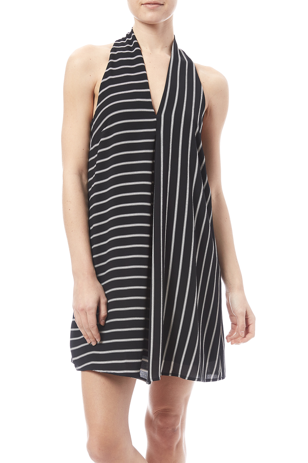 HYFVE Black And White Dress - Main Image