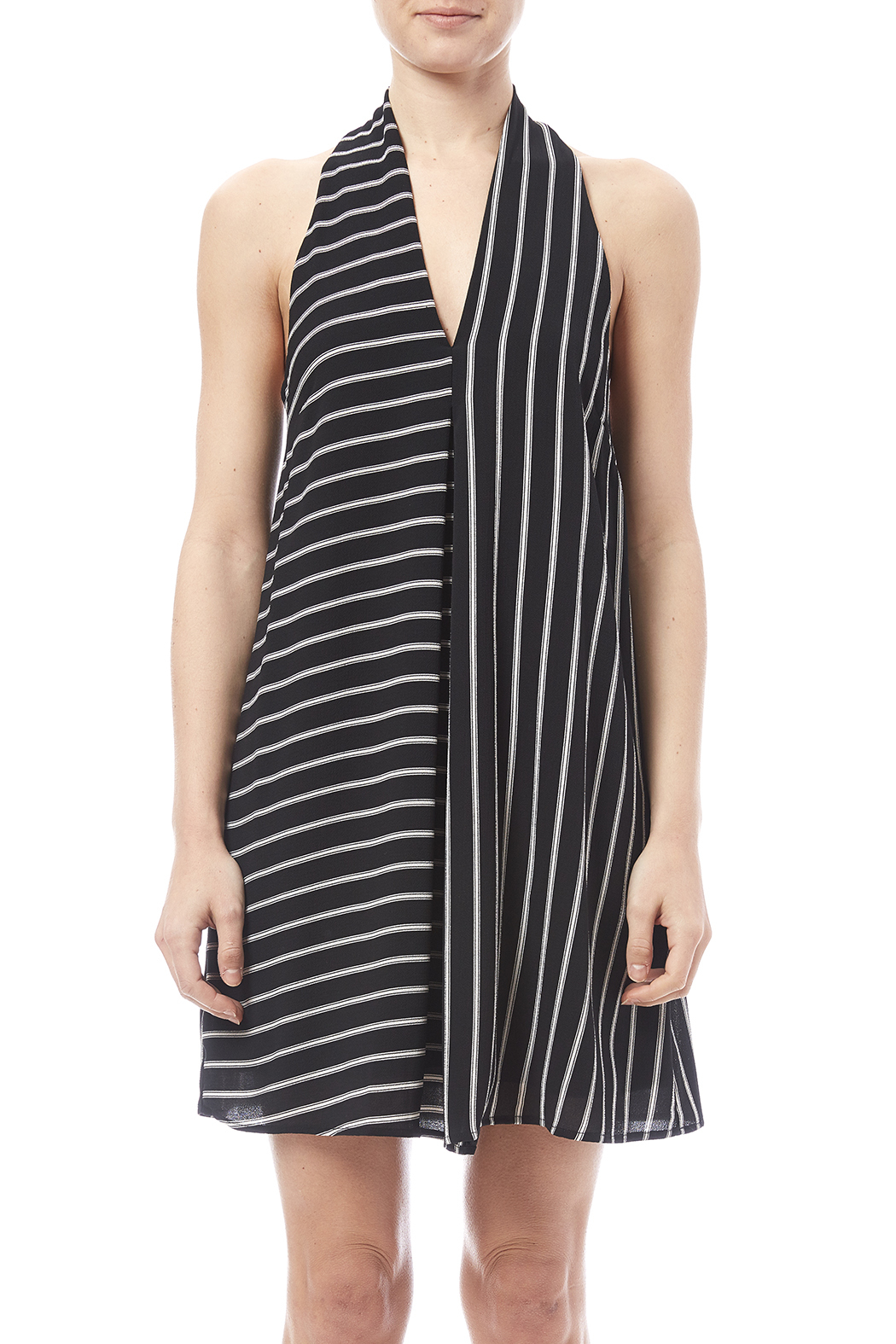 HYFVE Black And White Dress - Side Cropped Image
