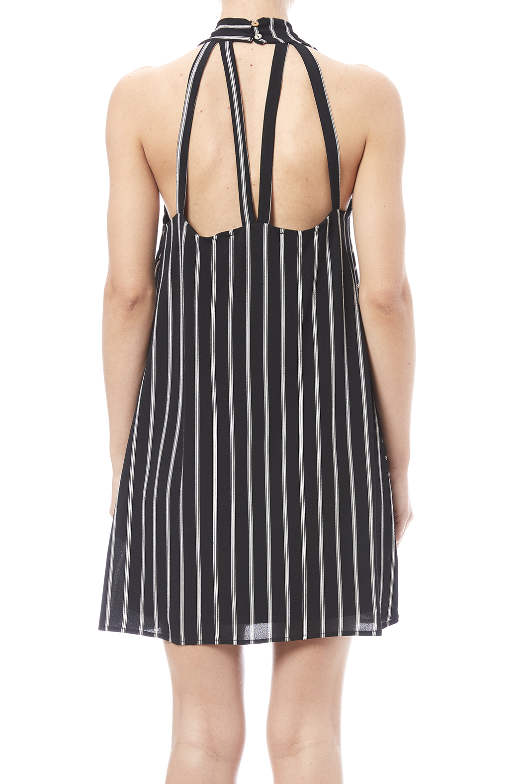 HYFVE Black And White Dress - Back Cropped Image