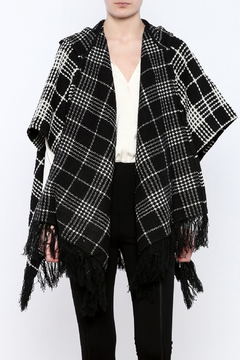 Shoptiques Product: Black And White Poncho
