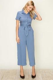 HYFVE Blue Buttondown Jumpsuit - Product Mini Image