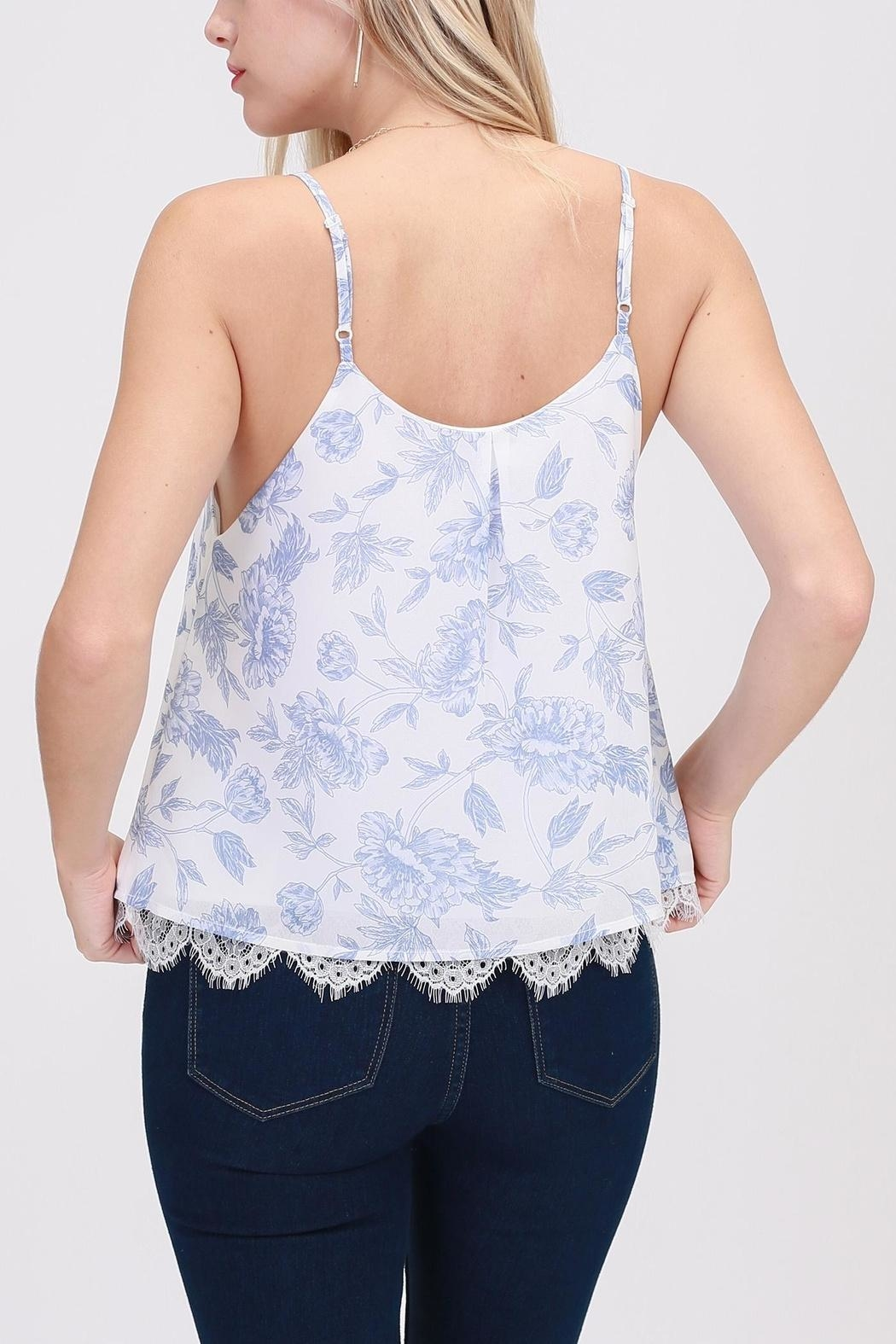 HYFVE Blue-Floral Perfection Top - Side Cropped Image