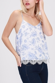 HYFVE Blue-Floral Perfection Top - Front full body