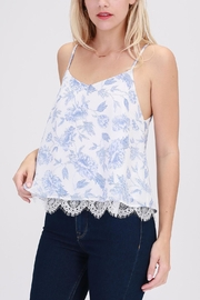 HYFVE Blue-Floral Perfection Top - Front cropped