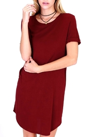 HYFVE Burgundy T Shirt Dress - Product Mini Image