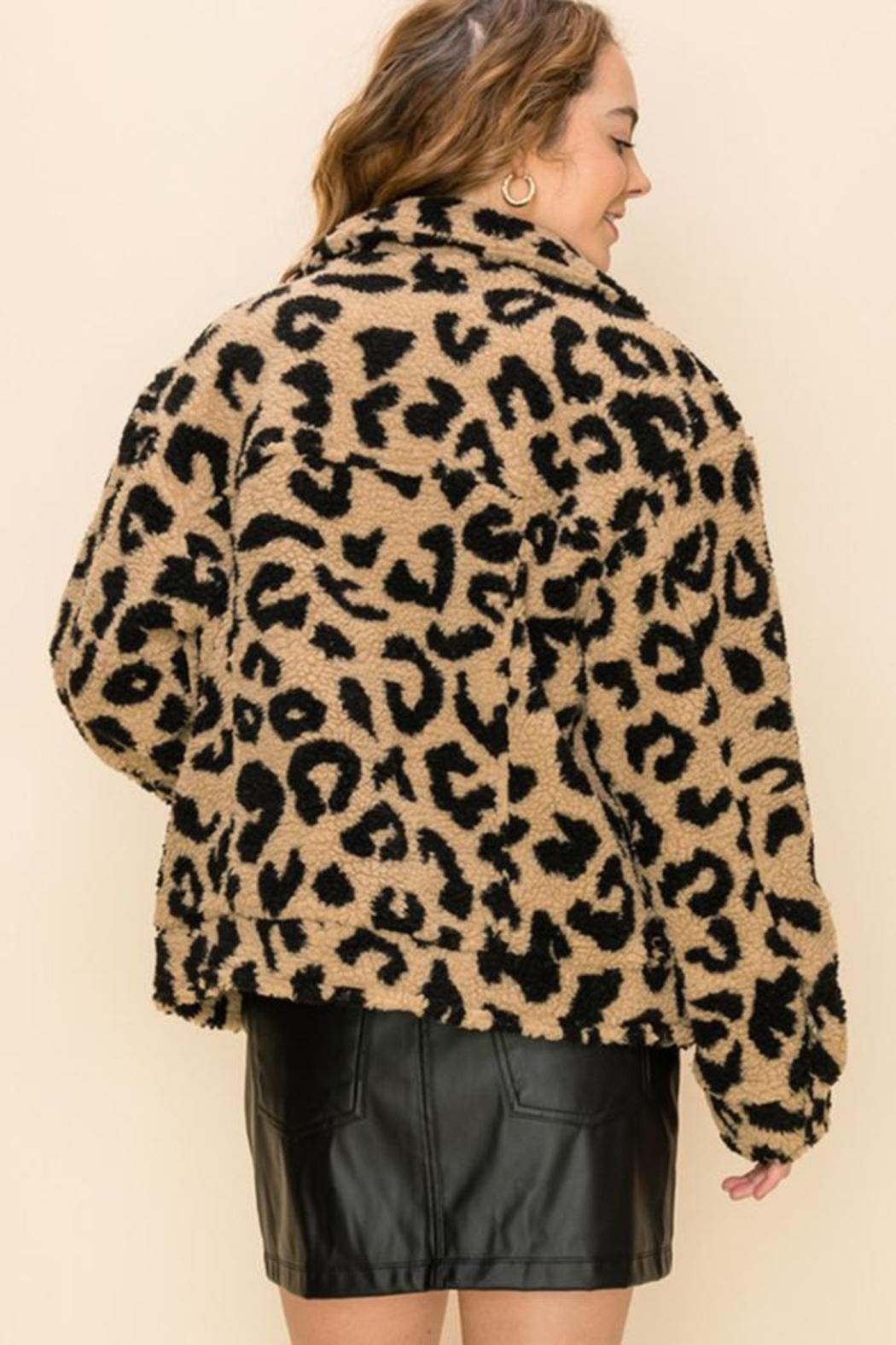 HYFVE Button Animal-Print Jacket - Side Cropped Image