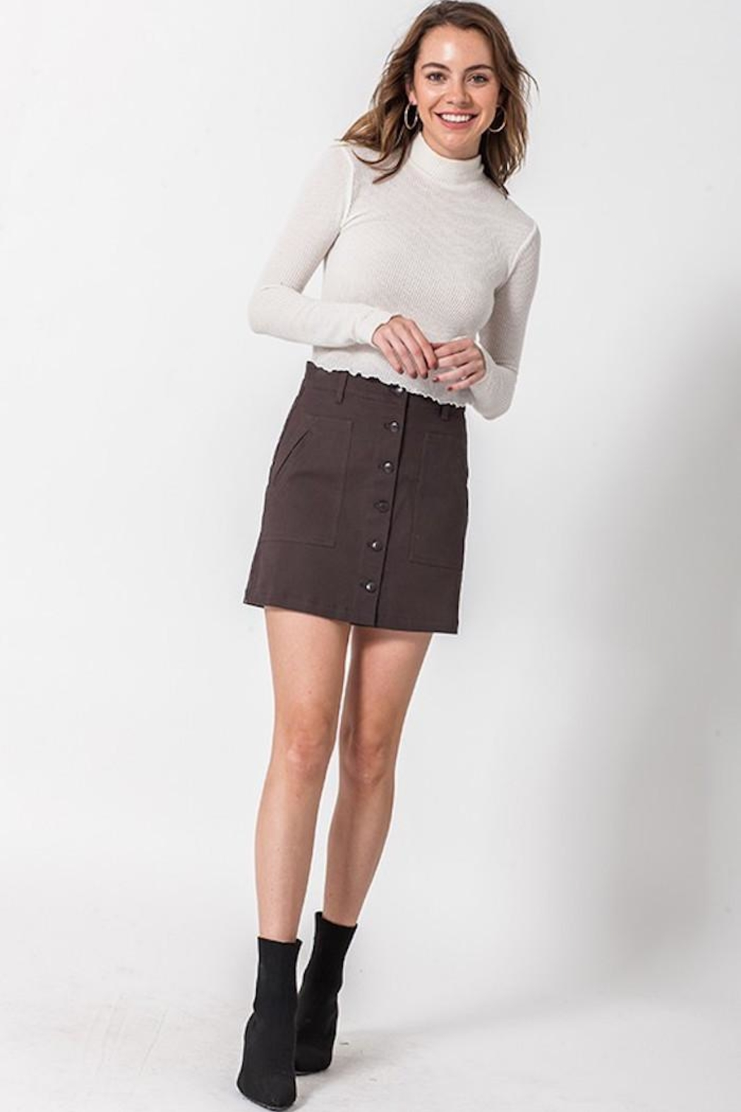 HYFVE Button Up Skirt - Front Cropped Image